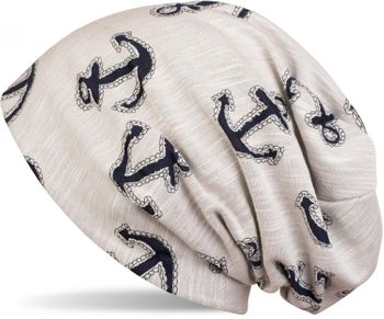 styleBREAKER Beanie Mütze im maritimen Anker Seil Print Look, Slouch Longbeanie, Unisex 04024082 – Bild 3