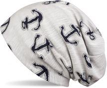 styleBREAKER Beanie Mütze im maritimen Anker Seil Print Look, Slouch Longbeanie, Unisex 04024082 – Bild 2