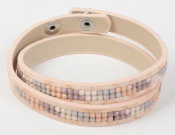 styleBREAKER Vintage Wickelarmband mit eingesetzten Strasssteinen, Armband, Damen 05040065 – Bild 11