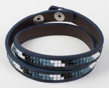styleBREAKER Vintage Wickelarmband mit eingesetzten Strasssteinen, Armband, Damen 05040065 – Bild 8