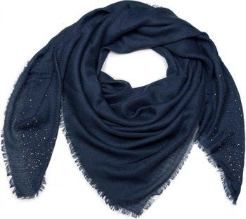 styleBREAKER Vierecktuch mit Jaquard Muster und Strass Nieten, Karo Fransen Schal, Tuch, Damen 01016122 – Bild 11