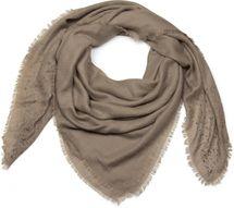 styleBREAKER Vierecktuch mit Jaquard Muster und Strass Nieten, Karo Fransen Schal, Tuch, Damen 01016122 – Bild 3