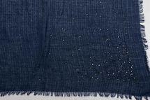 styleBREAKER Vierecktuch mit Jaquard Muster und Strass Nieten, Karo Fransen Schal, Tuch, Damen 01016122 – Bild 18