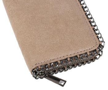 styleBREAKER weiche Vintage Geldbörse mit umlaufender Kette und Reißverschluss, Portemonnaie, Damen 02040061 – Bild 9