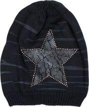 styleBREAKER Strick Beanie Mütze mit Vintage Stern Print und Strass Rand, Strickmütze mit Streifen Muster, Unisex 04024083 – Bild 14