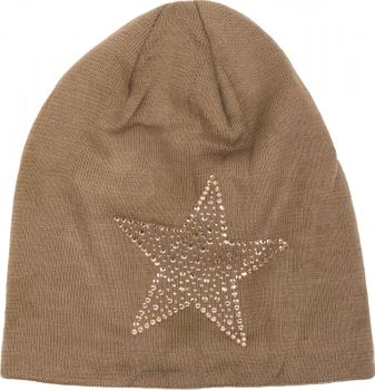 styleBREAKER warm fine knit beanie hat with all-over star pattern, rhinestone star and extremely soft fleece inner lining, unisex 04024084 – Bild 10
