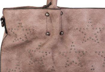 styleBREAKER Vintage Shopper Tasche mit All Over Nieten in Stern Form, Schultertasche, Umhängetasche, Handtasche, Damen 02012099 – Bild 22