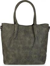 styleBREAKER Vintage Shopper Tasche mit All Over Nieten in Stern Form, Schultertasche, Umhängetasche, Handtasche, Damen 02012099 – Bild 7