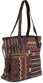 styleBREAKER Ethno Schultertasche im Boho Style, Henkeltasche, Handtasche, Tasche, Damen 02012101 – Bild 5