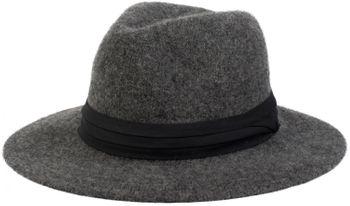styleBREAKER creased fedora with felt look with decorative band, Bogart, cowboy hat, unisex 04025015 – Bild 1