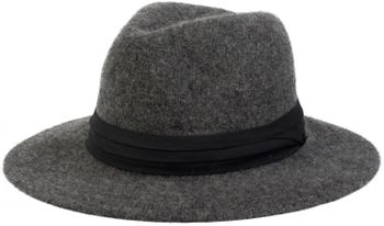 styleBREAKER Fedora Knautschhut in Filz-Optik mit Zierband, Bogart, Cowboy Hut, Unisex 04025015 – Bild 1