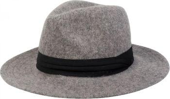 styleBREAKER creased fedora with felt look with decorative band, Bogart, cowboy hat, unisex 04025015 – Bild 2