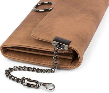 styleBREAKER weiche Geldbörse mit Ring und Kette mit Karabinerhaken, Druckknopf Verschluss, Portemonnaie, Damen 02040066 – Bild 13