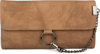 styleBREAKER soft wallet with ring and chain with lobster clasp, snap fastener, wallet, women 02040066 – Bild 1