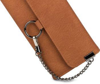 styleBREAKER weiche Geldbörse mit Ring und Kette mit Karabinerhaken, Druckknopf Verschluss, Portemonnaie, Damen 02040066 – Bild 11