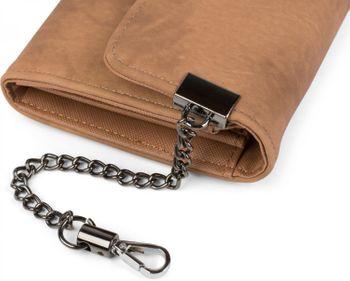 styleBREAKER weiche Geldbörse mit Ring und Kette mit Karabinerhaken, Druckknopf Verschluss, Portemonnaie, Damen 02040066 – Bild 14