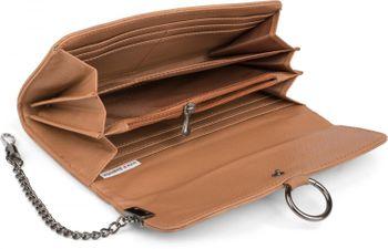 styleBREAKER weiche Geldbörse mit Ring und Kette mit Karabinerhaken, Druckknopf Verschluss, Portemonnaie, Damen 02040066 – Bild 15