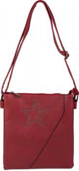 styleBREAKER Messenger Bag Umhängetasche mit Nieten Stern und überlappender Optik, Schultertasche, Handtasche, Damen 02012105 – Bild 6