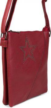 styleBREAKER Messenger Bag Umhängetasche mit Nieten Stern und überlappender Optik, Schultertasche, Handtasche, Damen 02012105 – Bild 13