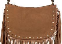 styleBREAKER Umhängetasche mit Fransen und goldenen Schmuck-Nieten, Schultertasche, Tasche, Damen 02012109 – Bild 10