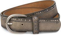 styleBREAKER Vintage Nietengürtel mit eingearbeiteter Kette und verschiedenfarbigen Nieten, Gürtel Unisex 03010070 – Bild 3