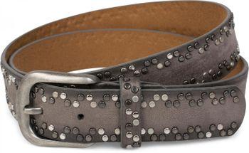 styleBREAKER Nietengürtel mit verschiedenfarbigen kleinen Nieten, Gürtel, kürzbar, Unisex 03010071 – Bild 1