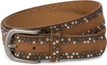 styleBREAKER Nietengürtel mit verschiedenfarbigen kleinen Nieten, Gürtel, kürzbar, Unisex 03010071 – Bild 2