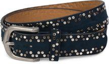 styleBREAKER Nietengürtel mit verschiedenfarbigen kleinen Nieten, Gürtel, kürzbar, Unisex 03010071 – Bild 5