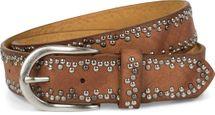 styleBREAKER Nietengürtel mit verschiedenfarbigen kleinen Nieten, Gürtel, kürzbar, Unisex 03010071 – Bild 11