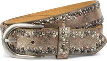 styleBREAKER Nietengürtel mit verschiedenfarbigen kleinen Nieten, Gürtel, kürzbar, Unisex 03010071 – Bild 17