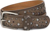 styleBREAKER Gürtel mit Sterne Cutout und glitzernden kleinen Pailletten, Vintage Glitzergürtel, Damen 03010072 – Bild 4