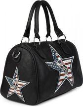 styleBREAKER Bowling Bag mit USA Stern Totenkopf Applikation, Umhängetasche, Handtasche, Damen 02012112 – Bild 2