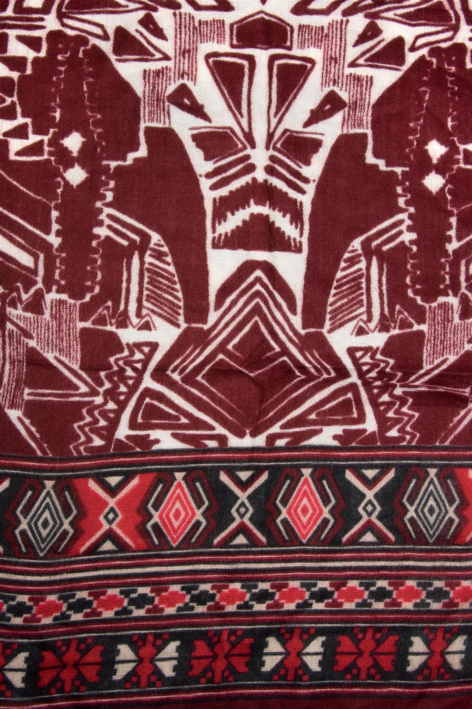 stylebreaker breiter xxl schal mit azteken ethno boho muster und fransen strickschal unisex 01017026 - Boho Muster