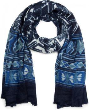 styleBREAKER breiter XXL Schal mit Azteken Ethno Boho Muster und Fransen, Strickschal, Unisex 01017026 – Bild 2