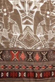 styleBREAKER breiter XXL Schal mit Azteken Ethno Boho Muster und Fransen, Strickschal, Unisex 01017026 – Bild 10