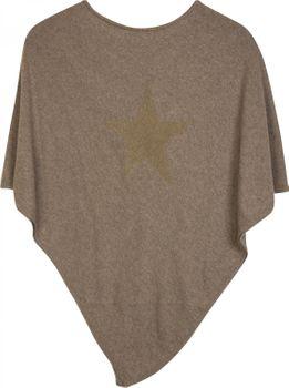 styleBREAKER weicher Feinstrick Poncho mit aufgedrucktem Glitzer-Stern, Rundhals, Damen 08010028 – Bild 13