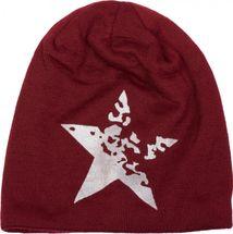 styleBREAKER warme Feinstrick Beanie Mütze mit Vintage Stern Print und sehr weichem Innenfutter, Slouch Longbeanie, Unisex 04024088 – Bild 11