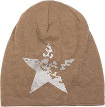 styleBREAKER warme Feinstrick Beanie Mütze mit Vintage Stern Print und sehr weichem Innenfutter, Slouch Longbeanie, Unisex 04024088 – Bild 12