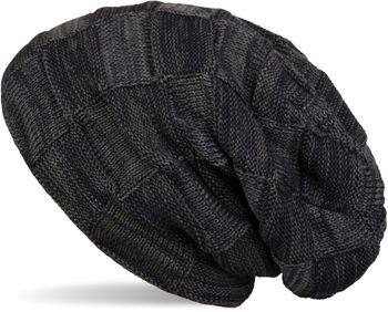 styleBREAKER warme Feinstrick Checked Beanie Mütze mit Flecht Muster und sehr weichem Fleece Innenfutter, Unisex 04024090 – Bild 7