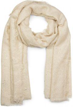 styleBREAKER grob gewebter XL Schal mit Pailletten besetzt und umlaufenden Fransen, Glitzerschal, Damen 01017028 – Bild 3
