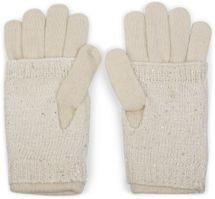 styleBREAKER Damen Strickhandschuhe, Handschuhe, abnehmbare Manschette mit Strass und Pailletten, doppelter Bund 09010006 – Bild 12