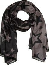 styleBREAKER Schal mit Sterne All Over Print Muster und Fransen am Saum, Stars, Tuch, Damen 01017031 – Bild 2