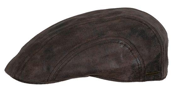 Stetson Leder Flatcap