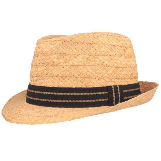 Hut-Breiter sehr leichter Stroh Trilby Hut mit gestreifter Garnitur