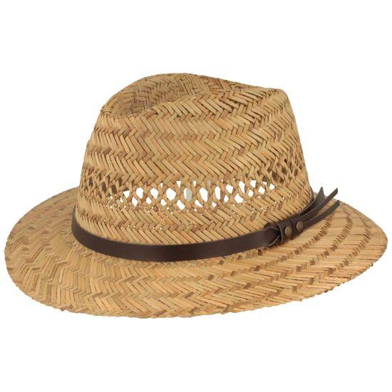 Hut-Breiter luftiger leichter Kinder Strohhut Traveller Hut aus 100% Stroh mit Kunstleder-Garnitur