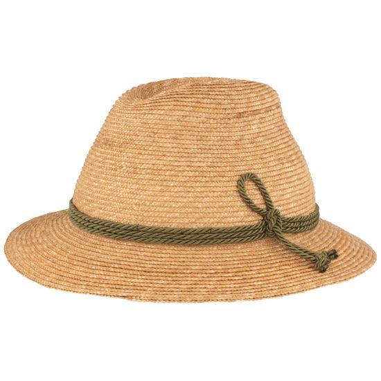 Hut-Breiter Trachten-Strohhut mit 3-fach Kordel