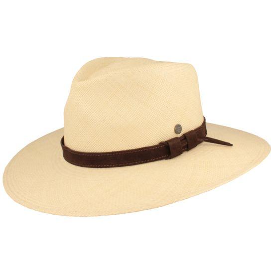 Hut-Breiter breiter Traveller Panama-Strohhut mit Leder-Garnitur und UV-Schutz 50+