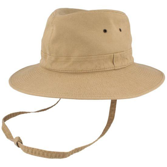 Hut-Breiter Freizeithut mit Kinnriemen und UV-Schutz 80+