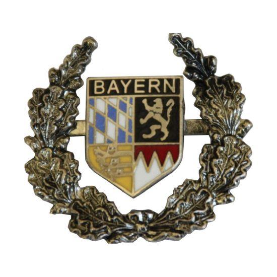 Hut-Breiter Hutanstecker Bayern Wappen mit Ehrenkranz