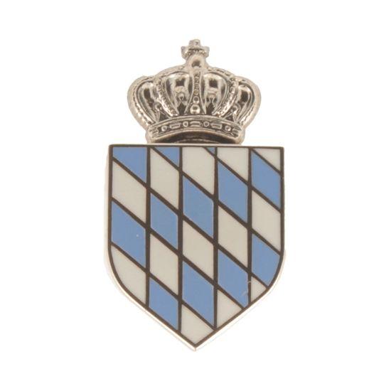 Hut-Breiter Hutanstecker gekröntes bayerisches Wappen